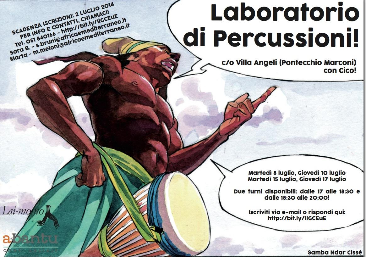 depliant laboratorio percussioni